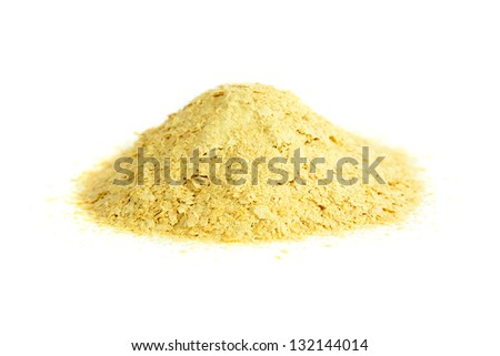 Nutritional yeast, natural source of vitamin B. Saccharomyces cerevisiae. - stock photo