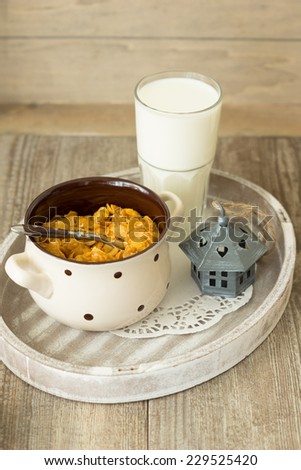 nutritious cereal cornflakes breakfast