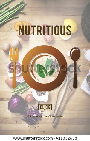 Nutritious Eating Food Health Nourishment Diet Concept - stock photo