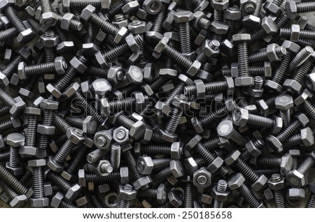 nuts and bolts isolated on a white background  - stock photo