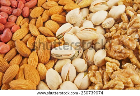 Nuts background - stock photo