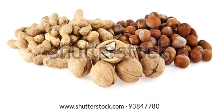 nuts isolated on a white background