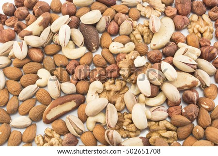 Nuts Mix as Background.