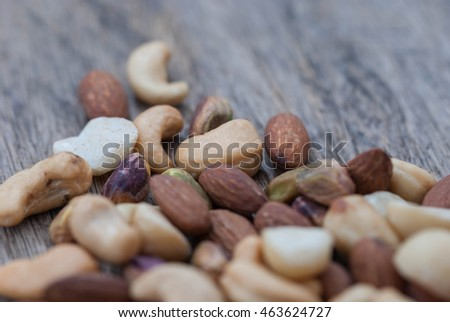 Nuts mixed, for backgrounds or textures.