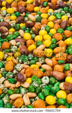 Nuts Mixed on white background - stock photo