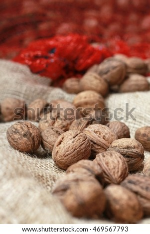 nuts on bag