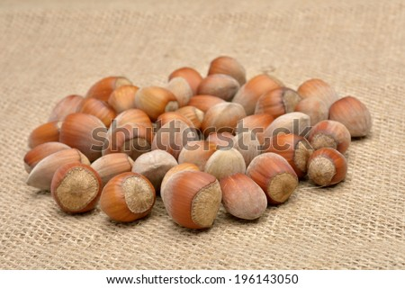 Nuts on old canvas
