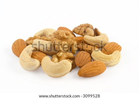 Nuts pile isolated