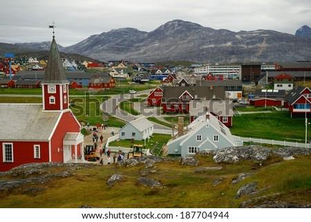 Nuuk, the capital of Greenland - stock photo