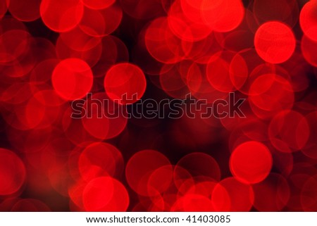 Nw Year Holiday Background. Abstract Red Light  Unfocused