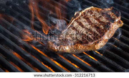 NY Strip Steak on Grill