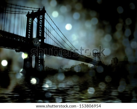 NYC Bridge - stock photo