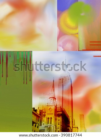 NYC Buildings Abstract - stock photo