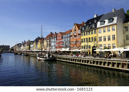 Nyhavn in Copenhagen - stock photo