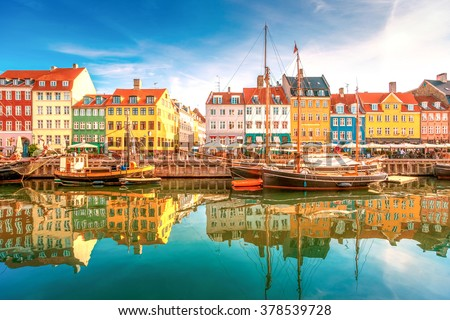 Nyhavn, Kopenhagen  - stock photo