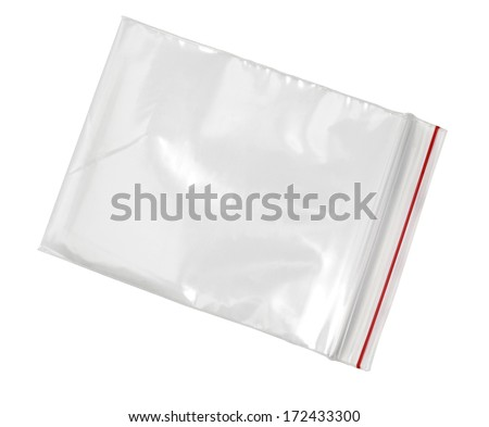 Nylon bag , Isolated on white. with clipping path - stock photo