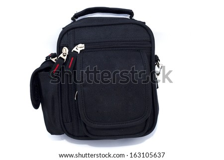 Nylon bag - pouch on white background