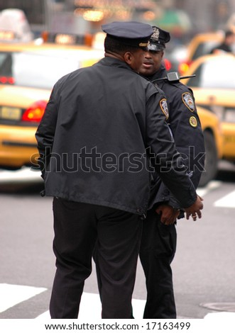 NYPD Police Officers - stock photo
