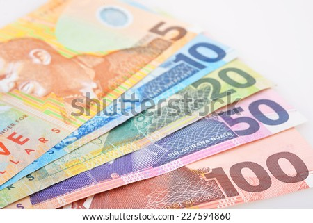 NZ Cash  - stock photo