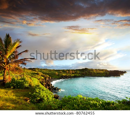 Oahu island - stock photo