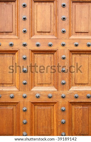 Oak chateau door