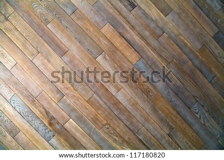 Oak wood texture of floor with natural patterns - stock photo