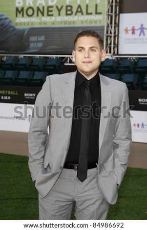 OAKLAND, CA - SEP 19: Jonah Hill at the world premiere of Columbia Pictures' 'Moneyball' at the Paramount Theater of the Arts on September 19, 2011 in Oakland, California - stock photo