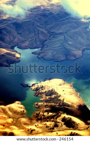 Oakland California from the air. - stock photo