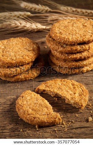 oat and wholemeal cookies