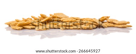 Oat breakfast cereal over white background