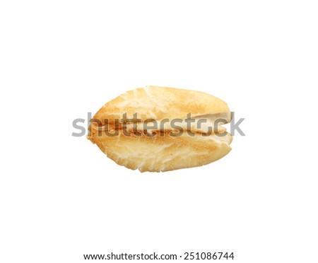 Oat flake isolated on white background - stock photo