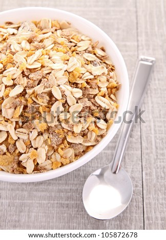oat flakes - stock photo