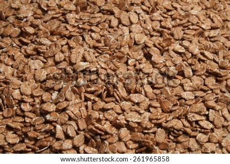 Oat flakes, rolled grains. Healthy lifestyles and nutrition - stock photo