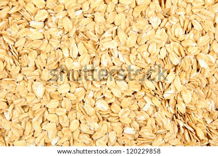 oat flakes texture of close up - stock photo