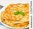 oat pancakes - stock photo