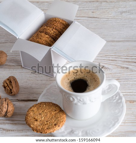 oatmeal biscuits - stock photo