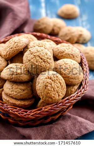 Oatmeal cookies - stock photo