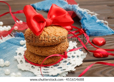 oatmeal cookies holiday decorations