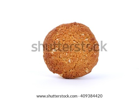 Oatmeal cookies with honey, honey oatmeal cookies, handmade cookies - stock photo