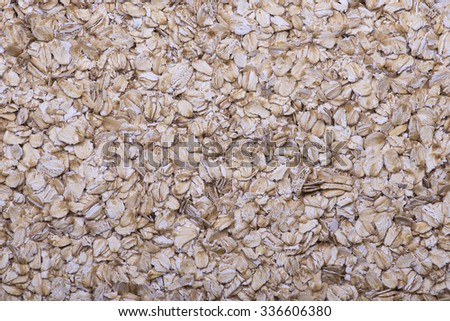 Oatmeal flakes close up as background - stock photo