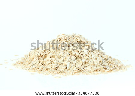 oats on white background - stock photo