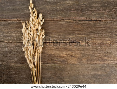 oats on wooden surface
