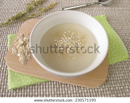 Oats soup  - stock photo