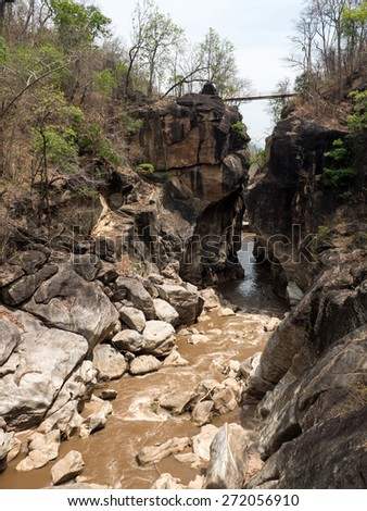 Ob Luang National Park - Grand Canyon of Thailand - stock photo