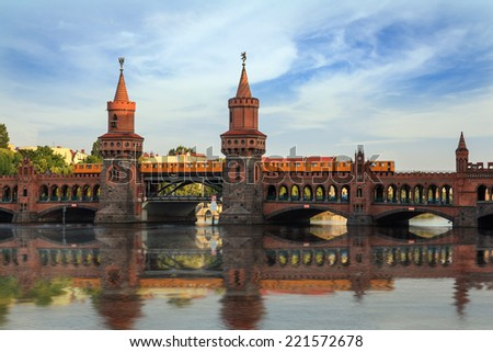 Oberbaum bridge, Berlin, Germany - stock photo