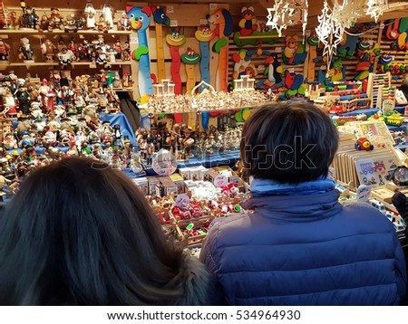 OBERHAUSEN, GERMANY - 04.12.2016 The shopping center CentrO and fragments of Christmas market