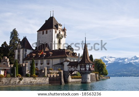 Oberhofen castle near Thun (Switzerland)