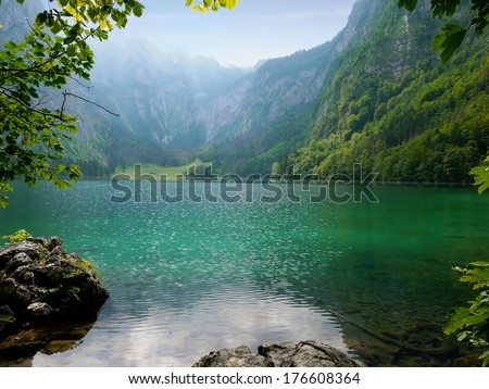 Obersee lake, Berchtesgaden, Germany - stock photo