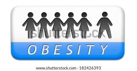 obesity or over weight overweight or obese people suffer eating disorder and can be helped by dieting paper chain silouette button or icon