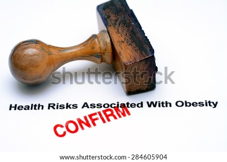 Obesity risk - stock photo